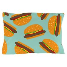 "CafePress Cute Burger Pattern Standard Size Pillow Case, 20""x30"" (1294047611)"