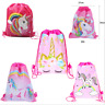 Unicorn Printed Non woven Fabrics Drawstring Bag Kids Loot Bag Party Bags LrJNE