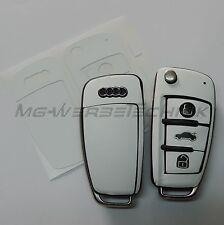 2A_Schlüssel-Dekor Aufkleber für Audi A1 A3 A4 A6 TT Q7 weiß matt