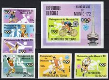 Tschad Chad Mi. 620-25 B, Bl. 54 B ** MNH Olympiade Olympic München 1972