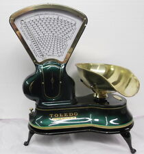 PROF. RESTORED TOLEDO CANDY SCALE WITH BRASS FRAMES AND SCOOP