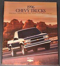 1996 Chevrolet Truck Brochure Pickup Blazer Suburban S-10 Tahoe Astro Lumina 96