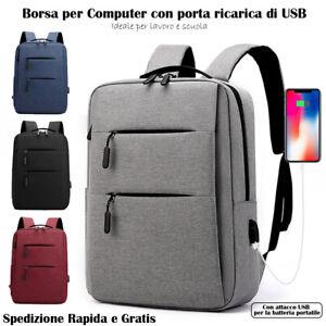 "Zaino Laptop Borsa per PC Portatile porta Computer Custodia Notebook 15.6"""