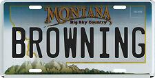 Browning Montana Aluminum License Plate