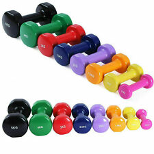 Vinyl Dumbbells 1-10KG Aerobic Home Gym Training Lifting Workout | UK STOCK