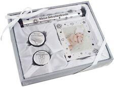 BRUBAKER 8-tlg Mutter Baby Geschenk-Set Geburt Taufe mit Fotorahmen Silber