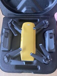 DJI Spark HD Camera Drone * Fly More Combo * Sunrise Yellow *Great Condition*