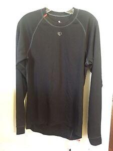 New Women's Pearl Izumi Transfer Base Layer Long Sleeve Size Medium Black