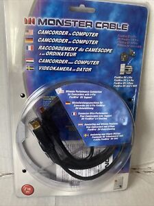 Monster Cable Camcorder To PC DV 6 Pin Firewire 20 Ft 6m 1394a