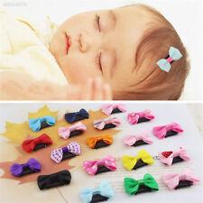 4pcs Baby Girls Mini Bowknot Hairclip Hair Pin Satin Head Jewellery
