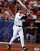 Mike Piazza Signed 8x10 New York Mets Photo - MLB Home Run PSA/DNA Silver