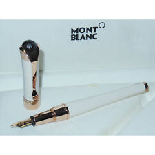 Open Box* Montblanc Etoile Sand Diamond Fountain Pen Red Gold 18K Nib F 113837