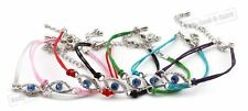 100 Mix Multi colored Evil Eye Bracelets STRING Kabbalah HOLY Success Good Luck