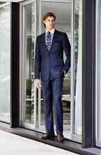 Hickey Freeman Classic B Fit Solid Loro Piana Wool Suit Shark Skin 48 Long L