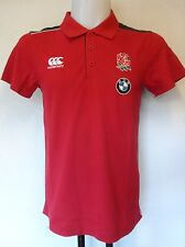 ENGLAND RUGBY RED BMW TRAINING  POLO SHIRT BY CANTERBURY SIZE ADULTS LARGE