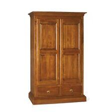 Closet 1246 Classic 2 Door Straight 2 Drawers Dye Chestnut