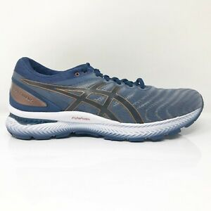 Asics Mens Gel Nimbus 22 1011A680 Blue Gray Running Shoes Lace Up Size 10