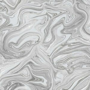 Henderson Interiors Prosecco Sparkle Marble Wallpaper Grey Silver H980538