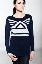 Unbranded Women's Geometric Long Sleeve Jumpers & Cardigans
