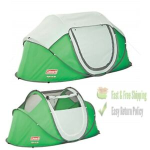 2 Person Outdoor Pop Up Tent Camping, Portable Family Shelter, Mesh Windows