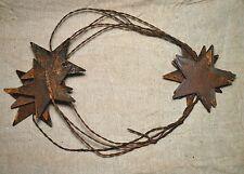 "set of 5 Primitive Rusty Tin 6 foot Star Garlands w/ 2-1/4"" Stars"