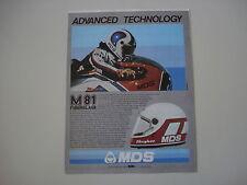 advertising Pubblicità 1982 CASCO MDS M81 e ROLAND FREYMOND