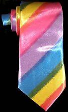 RAINBOW NECKTIE NEW TIE SHOW THE PRIDE YES VOTE LGBT  YELLOW PINK