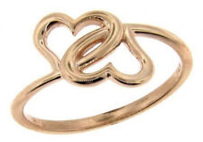 double heart fashion cocktail right hand ring 3 grams 14k rose gold size 7.5