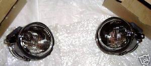 BMW Brand E46 3 Series E39 5 Series OEM M-Technik Round Fog Lamps Tinted OEM New