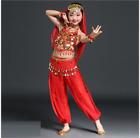 KID's Top Pants Belt Head scarf 5pcs set Belly Dance Costume Dancewear 09 NEW