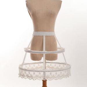 Lolita Underskirt Crinoline Hoop Cage Skirt Pannier Bustle Petticoat Costume