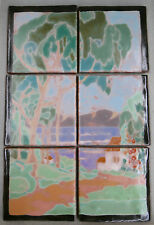 Contemporary 6-Tile Landscape Panel with House by Lake