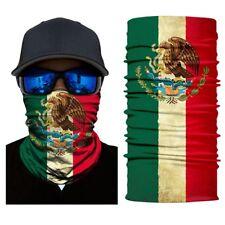 New Mexican flag Face Shield Fishing Sun Mask Balaclava Headwear UV  Multi-fun