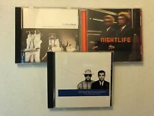 PET SHOP BOYS CD LOT OF 3! DISCOGRAPHY,NIGHTLIFE,WHERE THE STREETS HAVE NO NAME!