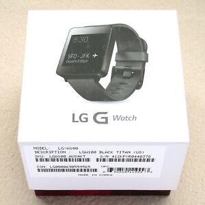 LG LG-W100 G Android Smart Watch Black Titan (US) Waterproof - Google Ready NIB