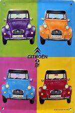2cv Citroën boite métal en route pour les vacances 19,5x13cm  cadeau,déco maison