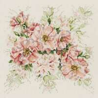 """Garden Roses Counted Cross Stitch Kit 13""""X13"""" 14 Count 049489106575"""