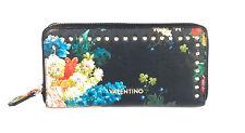VALENTINO CYPRUS Zip Around Nero, Damen-Geldbörse Portemonnaie Wallet