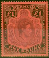 Bermuda 1938 £1 Purple & Black-Red SG121 Fine Mtd Mint
