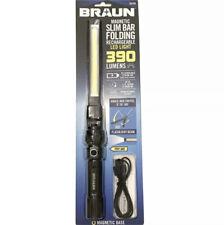 NEW Braun Magnetic Slim Bar Folding Rechargeable LED Light 390 Lumens