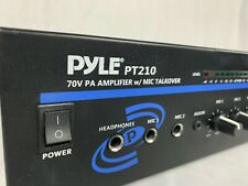 PYLE PT 210 70V PA Amplifier w/ Mic Talkover - Professional Grade Audio