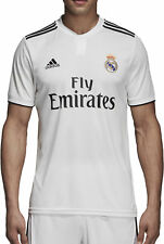 Large adidas Real Madrid Home Shirt 2018-19 Plain Badges Rm12