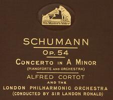 CORTOT- PIANO- & LONDON PHIL. Schumann: Concerto in A-moll Op. 54; 4x 78rpm  A94