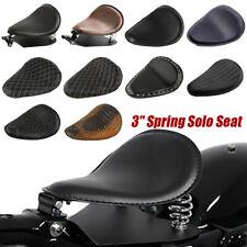 """Motorcycle 3"""" Spring Solo Bracket Seat Base Kit For Harley Chopper Bobber Custom"""
