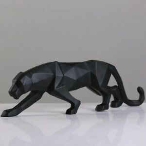 New 2020 Leopard Statue Figurine Modern Abstract Geometric Style Resin Panther A