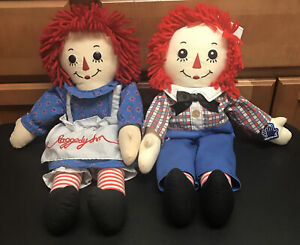 """2010 Russ Applause Classic Raggedy Ann & Andy Cloth Doll 17"""""""