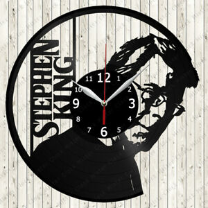 Stephen King Vinyl Record Wall Clock Decor Handmade 6726