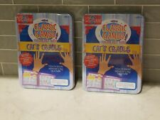 2 Cat's Cradle Classic Games For Smart Kids Activity Play Tin Case Shure NEW