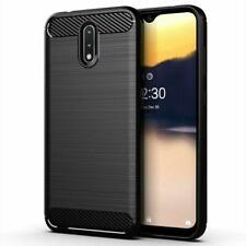 """Per Nokia 2.3, 6.2 """", Nero Carbonio Fibra Silicone Gel Anti-urto Telefono Cover"""