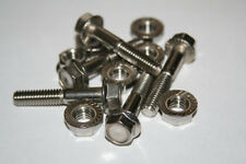 10 PIECES  5/16-18 X 3/4  STAINLESS STEEL SERRATED FLANGE BOLTS WITH NUTS